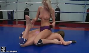 Ava and Danielle Maye have sex after wrestling