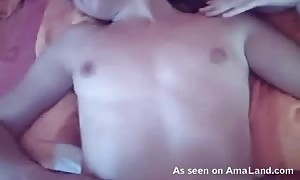 Close-up penetration of my stunning ex gf in the bed