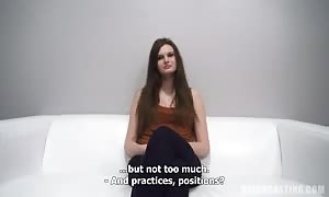 awesome long-haired dark haired is leisurely getting your mitts on nude in the vid by Czech casting