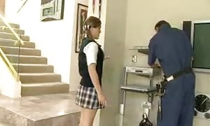 wire man nails a hot schoolgirl