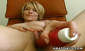 A blond new cummer gf toys her vagina and licks shlong with a vast cum facial jizz shot ! genuine novice stuff !