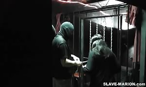 This is brandnew. I've filmed this one on last Saturday, February 11, 2012. My kinky sex slave Marion was well used again in a home full length of males. It was an Adult Theater, where I primary hand-cuffed my .