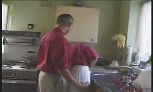 blonde English hottie screwed in the kitchen