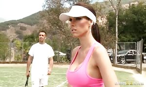 Jennifer Dark munches a tennis player's boner