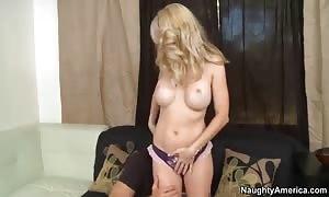 aroused mom Angela Attison seduces her cousing