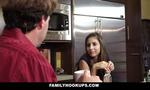 FamilyHookups- horny step-daughter gives daddy tug-job