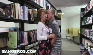 BANGBROS - pounding a youngster brown-haired named Joseline Kelly in the library