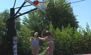 young ladies get bare naked and rub every