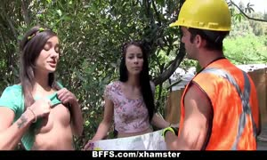 bff's - nude youngsters fuck Construction Worker