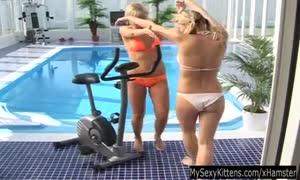 blond teenagers Tara and Yasmin have vibrator fun