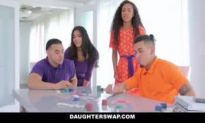 DaughterSwap - aroused hispanic girl Besties hard-on trade