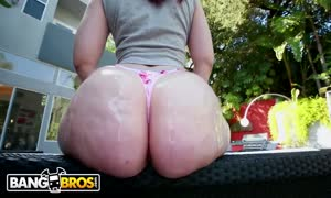 BANGBROS - small red head PAWG Lily Sincere gets Her gigantic butt pounded