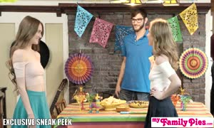 Step Sis And teenager good friend Sneak screw At Cinco De Mayo party S2:E5