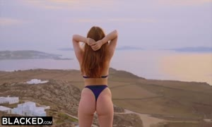 BLACKED bbc yearning Red Head gets Dominated On Vacation