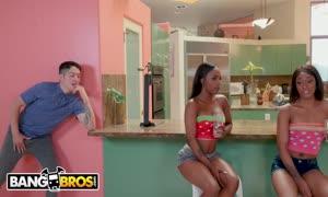 BANGBROS - Sarah Banks bangs Her bffs large dick Brother, Connor