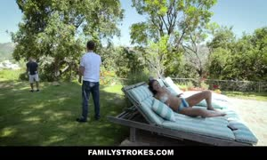 FamilyStrokes - Stepsis mistakes Stepbro For bf