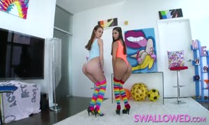 gobbled nasty blowbang with Gianna Dior and Charity Crawford