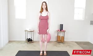 Fit18 - Hazel Moore - 54kg - casting All Natural youngster Born On Y2K