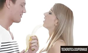 youngster Cumslut Katrin Tequila gets Her shaven beaver Pumped full of man juice