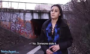 Public Agent Stranded hotty Klaudia Diamond pounded hard for cash