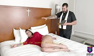 Possessed huge ass mother I'd like to fuck will get a holy butt sex exorcism.
