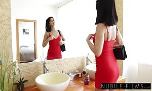 attractive dark haired female