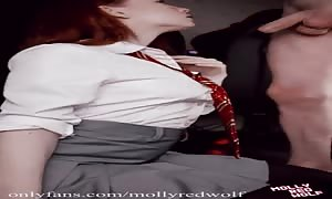 One Hundred points to Gryffindor! Oral cream-pie - Vertical video clip