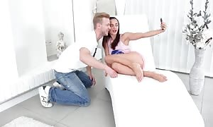 teenie anal sex Tryouts - naughty fuck buddies satisfy every other in armchair