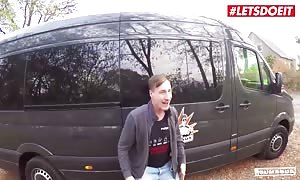 BumsBus - lady Paris huge titted aged German brown haired dirty fuck In The Backseat - LETSDOEIT