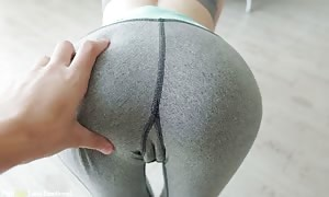 Step Sister In Leggings is aware of