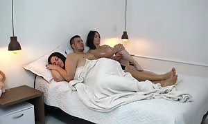 I shock my friend screwing with my hubby as he was resting+watch what occurs when I wake up