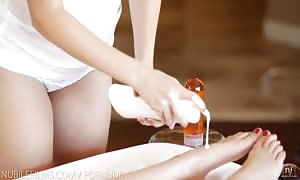 Nubile flicks - naughty beauties share pecker and sperm