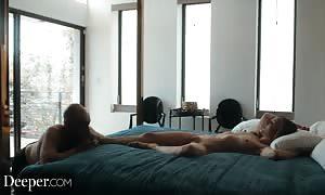 Deeper. big black cock drills Karla Kush as Cuckold husband watches