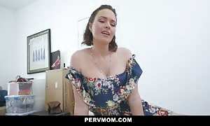 big chested step-mom Krissy Lynn Takes Her Stepson's hot Load